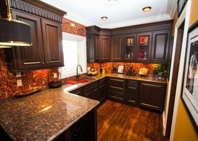 Kendor Wood Gallery | dark wood cabinets